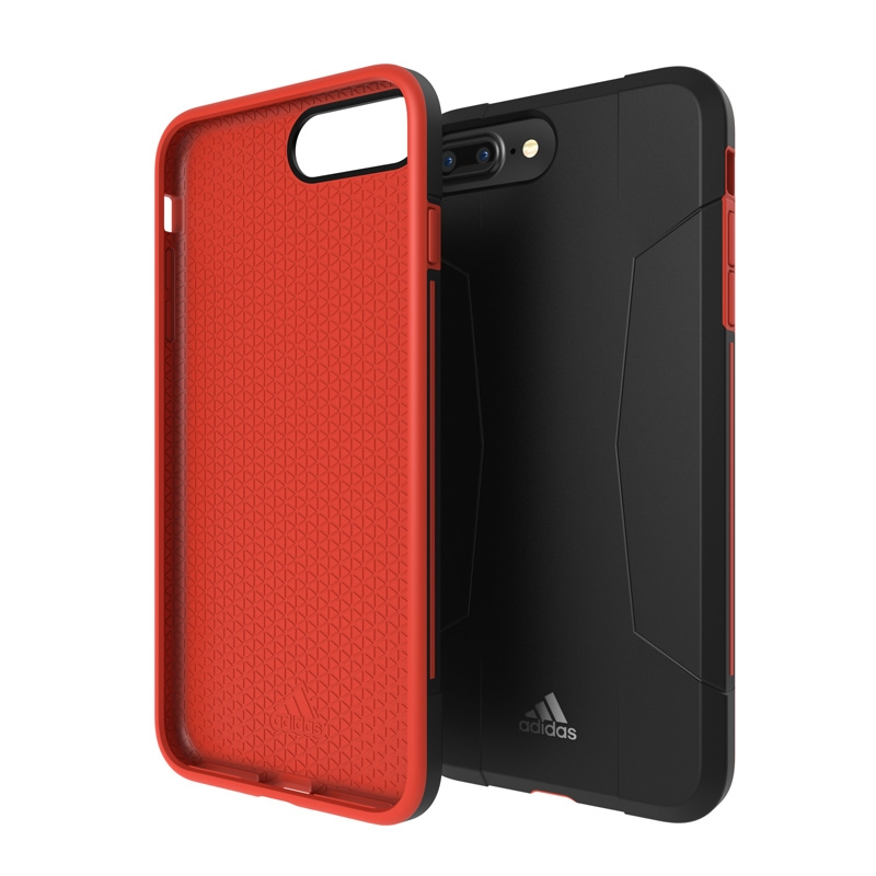 Adidas SP Solo Apple iPhone 6 Plus-6s Plus-7 Plus Back Cover Zwart-Rood