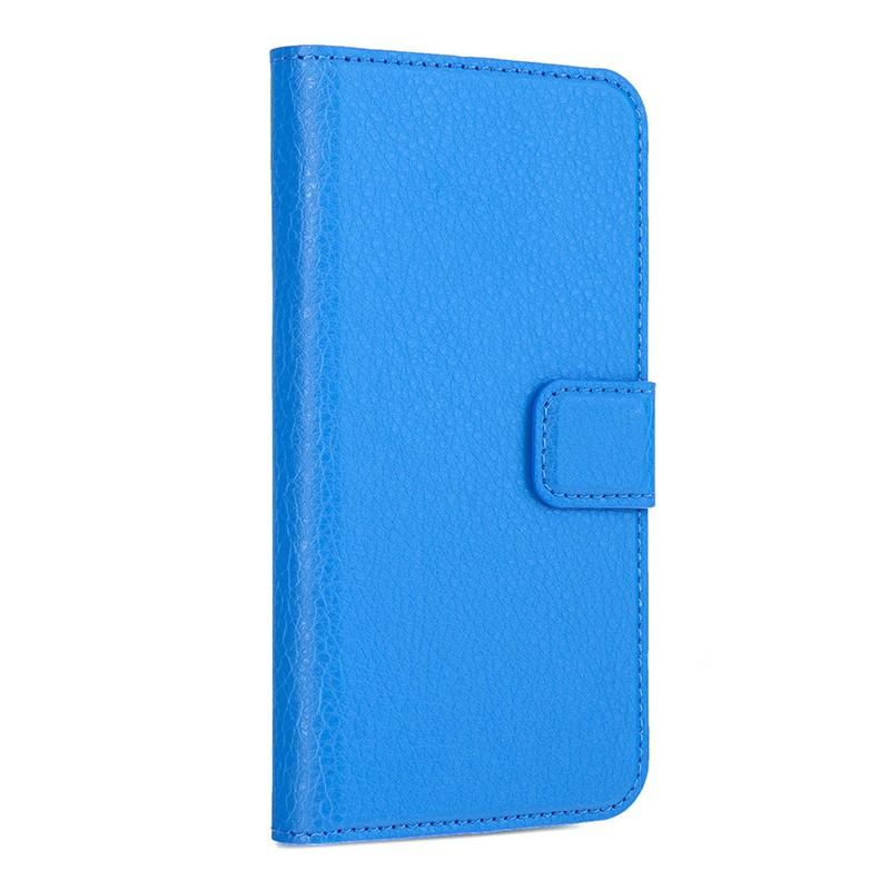 Xqisit - Slim Wallet Case iPhone SE / 5S / 5 Blue 01