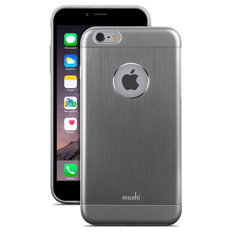 Moshi - iGlaze Armour iPhone 6 Plus / 6S Plus Grey 01