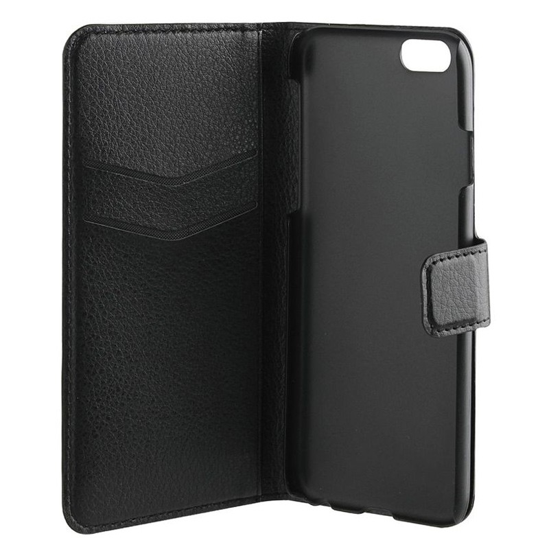 Xqisit Slim Wallet iPhone 7 hoes zwart 05