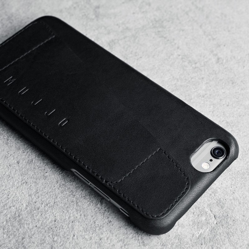 Mujjo Leather Wallet Case 80 iPhone 6 Plus Black - 3