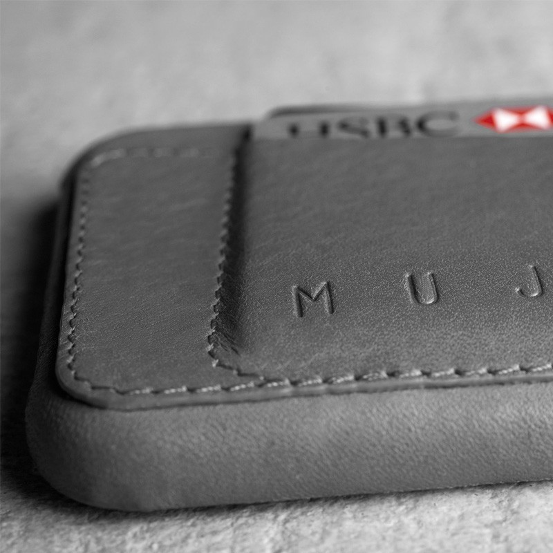 Mujjo Leather Wallet Case 80 iPhone 6 Plus Grey - 2