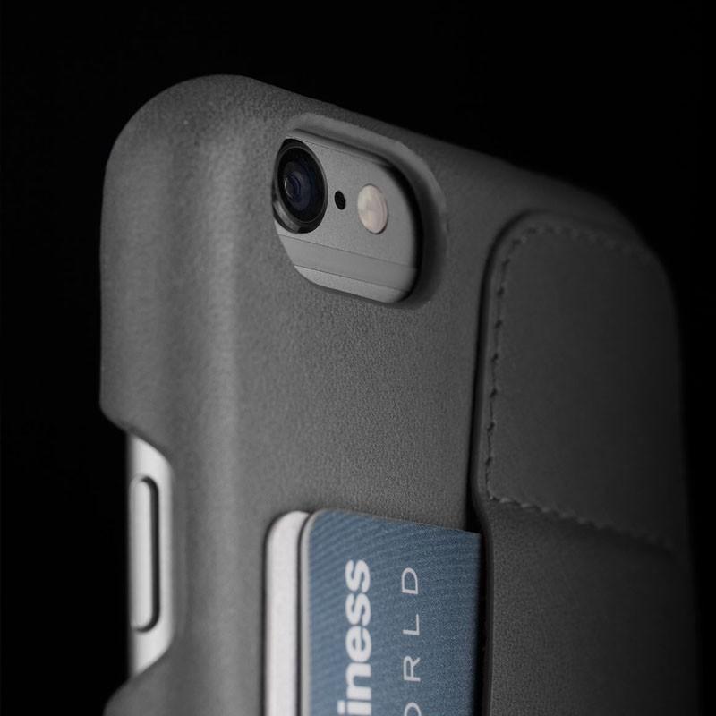 Mujjo Leather Wallet Case 80 iPhone 6 Plus Grey - 6