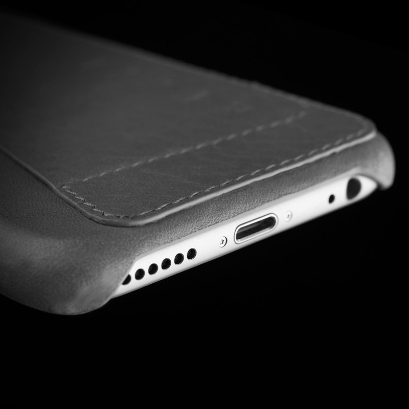 Mujjo Leather Wallet Case 80 iPhone 6 Plus Grey - 7