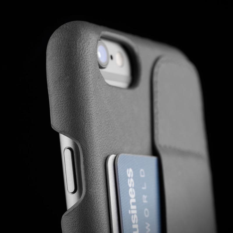Mujjo Leather Wallet Case 80 iPhone 6 Plus Grey - 9