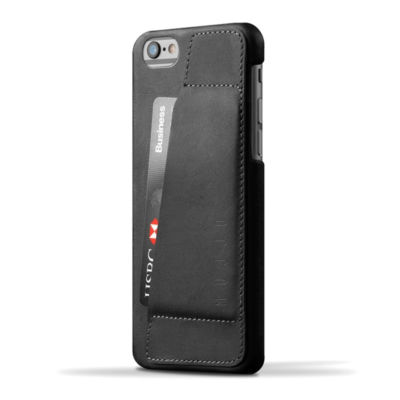 Mujjo Leather Wallet Case 80 iPhone 6 Plus Black - 1