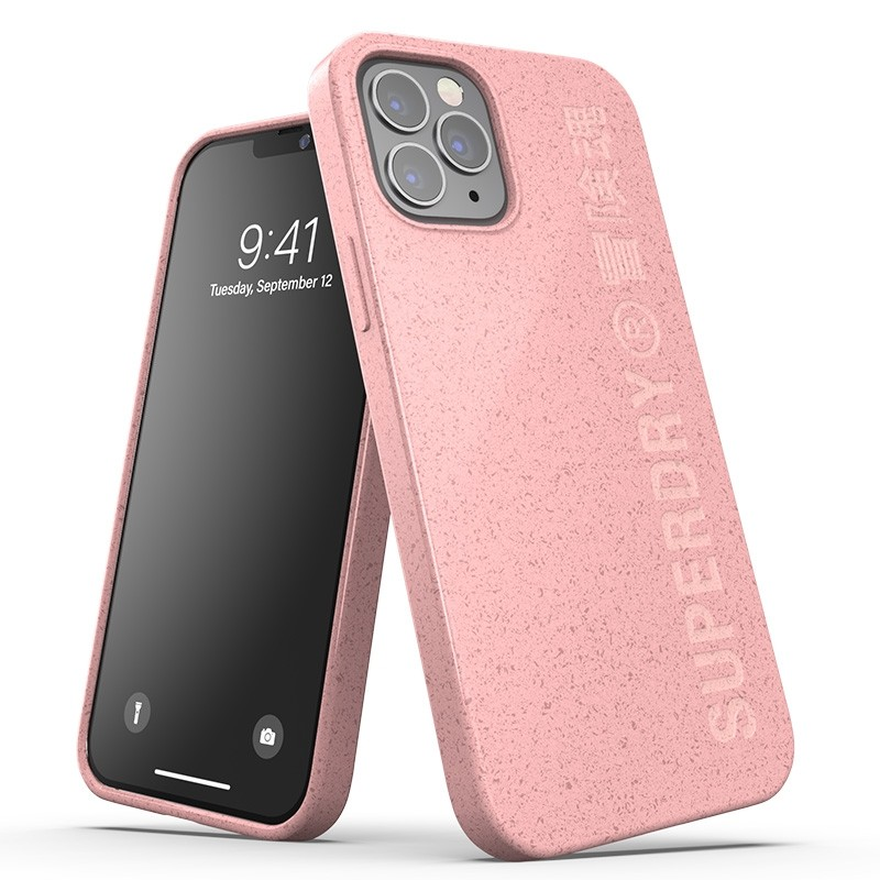 Superdry Compostable Snap Case iPhone 12 en iPhone 12 Pro Pink 01