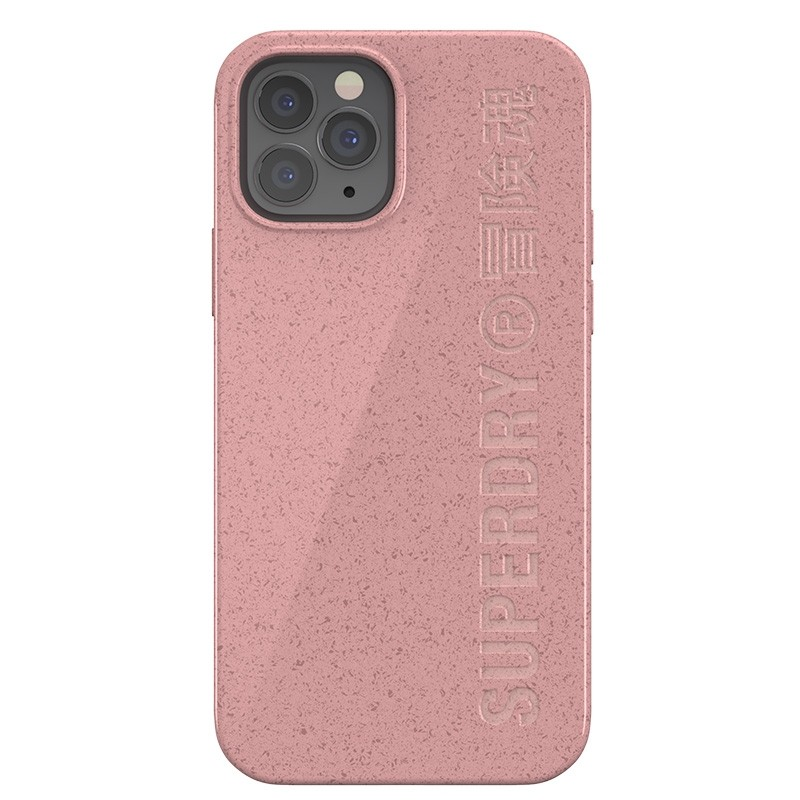 Superdry Compostable Snap Case iPhone 12 en iPhone 12 Pro Pink 02