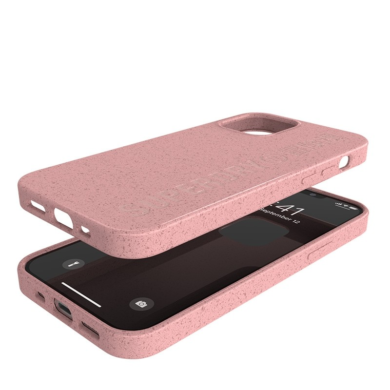 Superdry Compostable Snap Case iPhone 12 en iPhone 12 Pro Pink 07