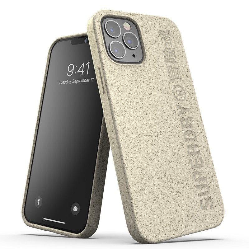 Superdry Compostable Snap Case iPhone 12 / iPhone 12 Pro Wit 01