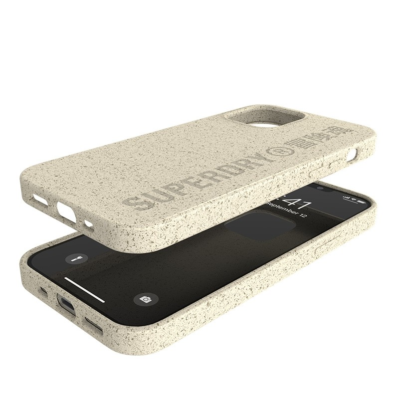 Superdry Compostable Snap Case iPhone 12 / iPhone 12 Pro Wit 06