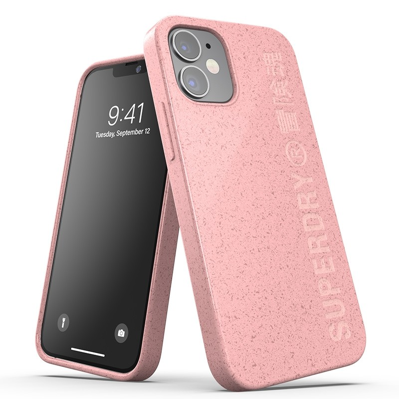Superdry Compostable Snap Case iPhone 12 Mini Pink 01