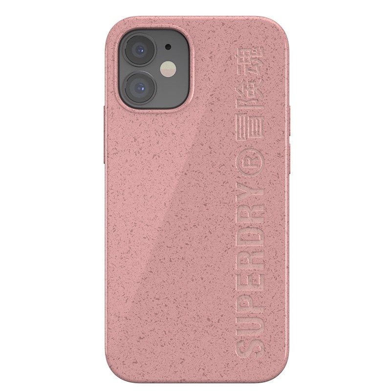 Superdry Compostable Snap Case iPhone 12 Mini Pink 07