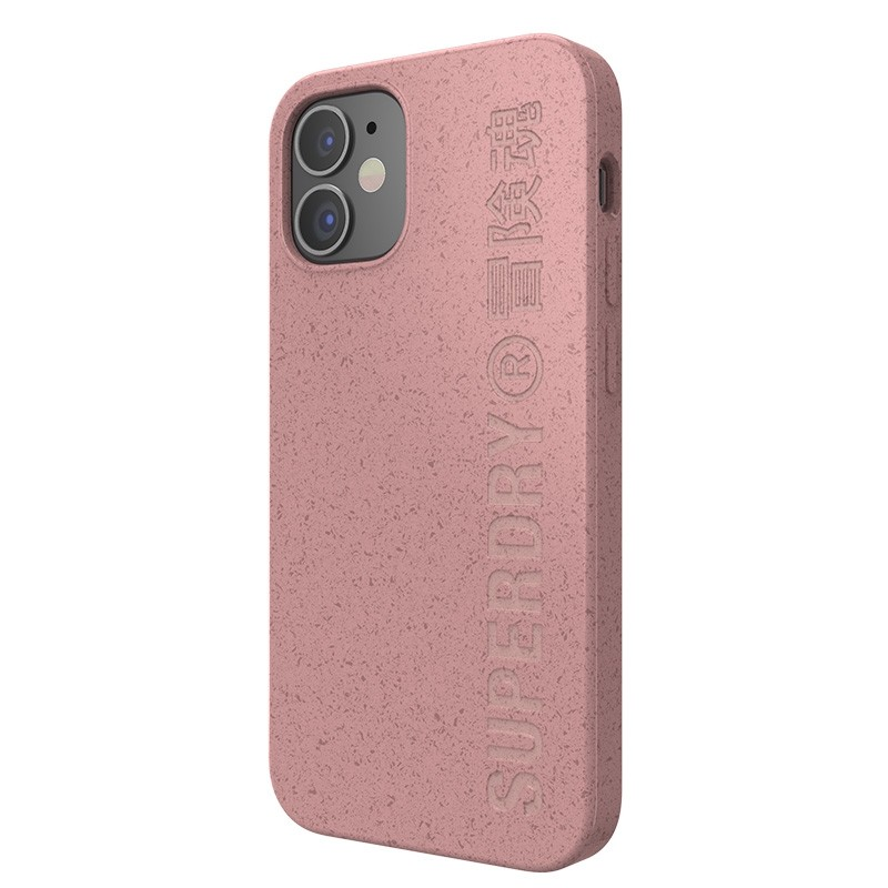 Superdry Compostable Snap Case iPhone 12 Mini Pink 02