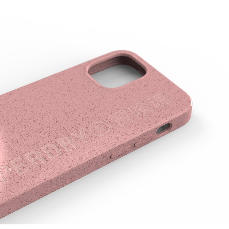 Superdry Compostable Snap Case iPhone 12 Mini Pink 05