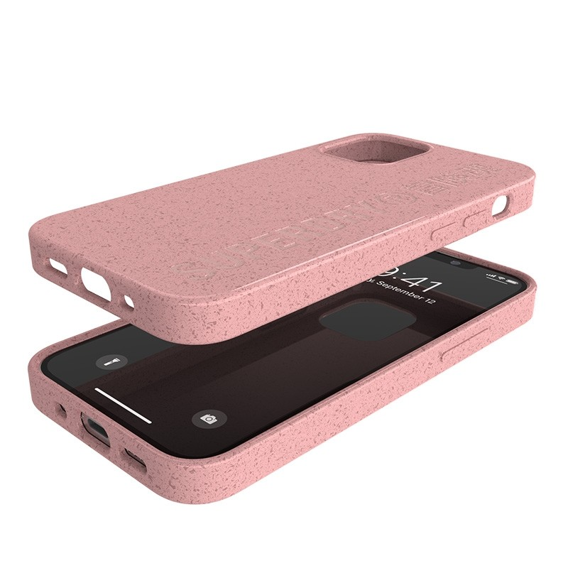 Superdry Compostable Snap Case iPhone 12 Mini Pink 06