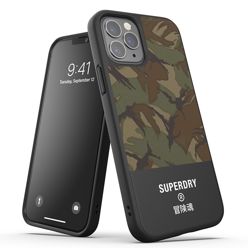 Superdry Moulded Case Canvas iPhone 12 / iPhone 12 Pro camo 01
