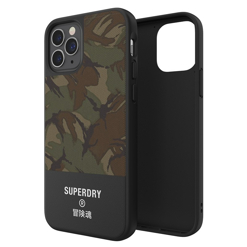 Superdry Moulded Case Canvas iPhone 12 / iPhone 12 Pro camo 02