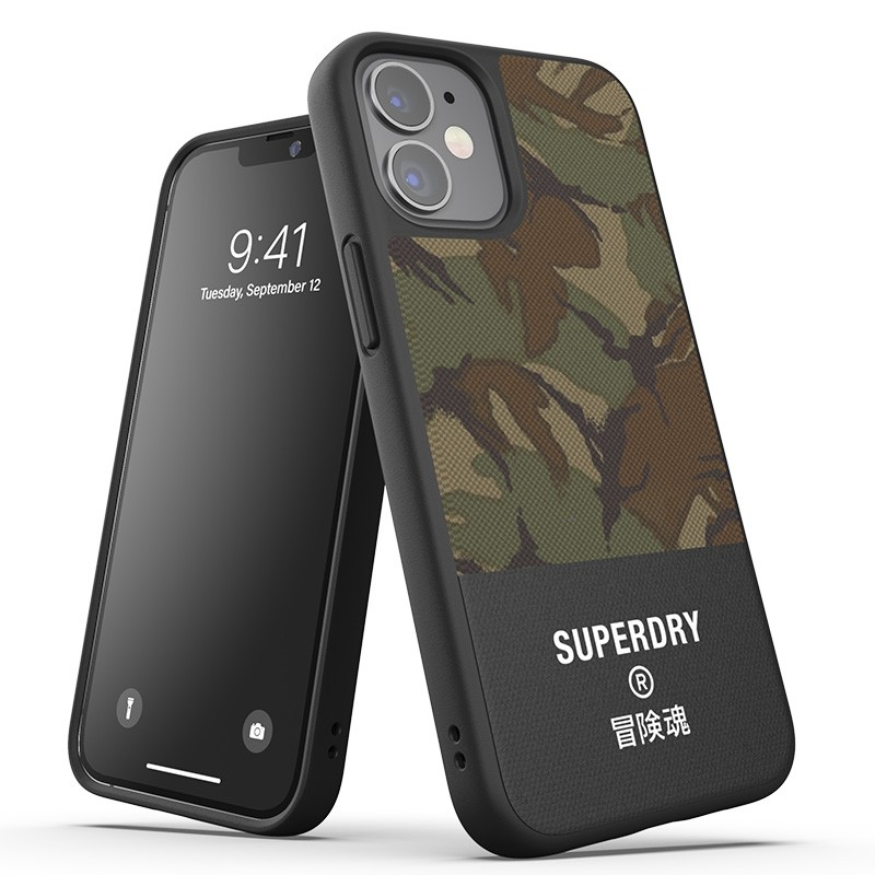Superdry - Moulded Case Canvas iPhone 12 Mini camo 01