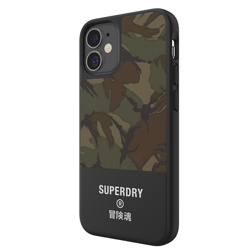 Superdry - Moulded Case Canvas iPhone 12 Mini camo 02