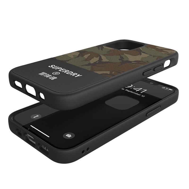 Superdry - Moulded Case Canvas iPhone 12 Mini camo 03