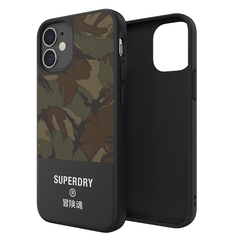 Superdry - Moulded Case Canvas iPhone 12 Mini camo 07