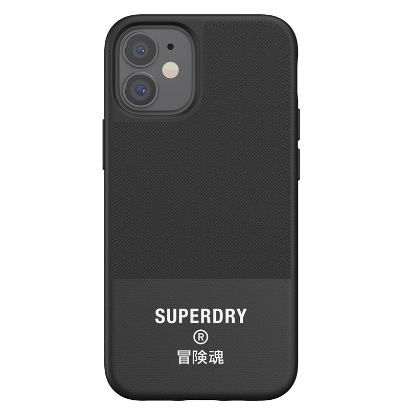 Superdry Moulded Case Canvas iPhone 12 Mini zwart 04