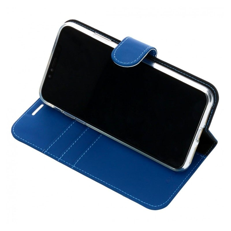 Accezz Booklet Wallet iPhone XS Max Blauw - 4