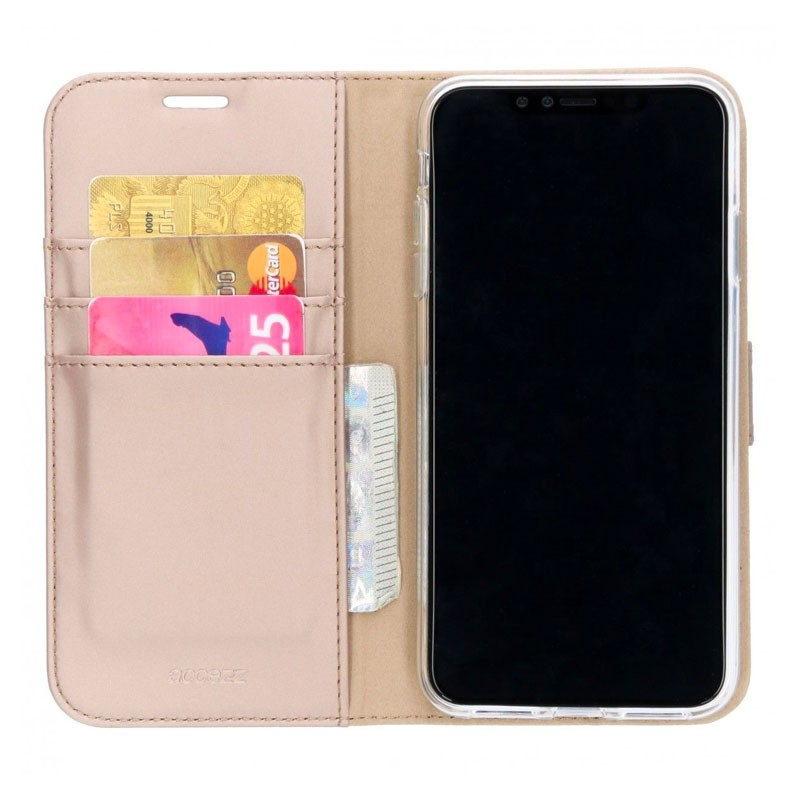 Accezz Booklet Wallet iPhone XS Max Goud - 1