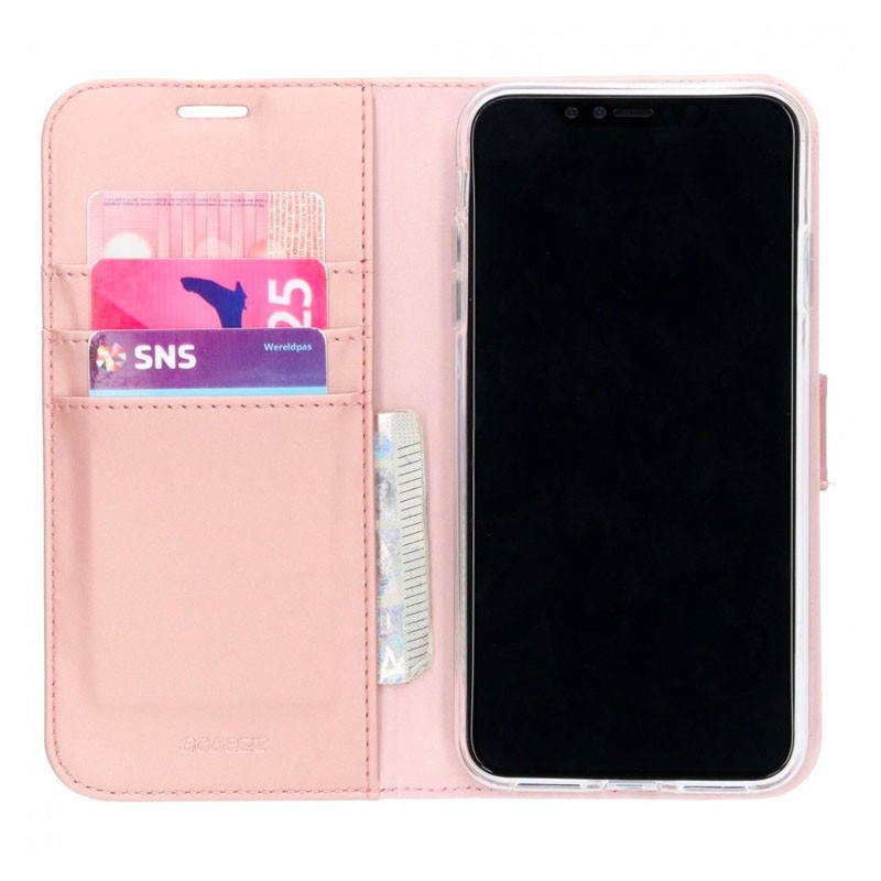 Accezz Booklet Wallet iPhone XS Max Roze - 1