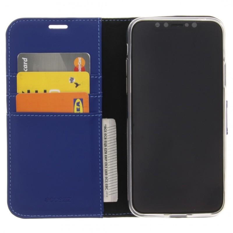 Accezz Booklet Wallet iPhone XR Hoesje Blauw - 1