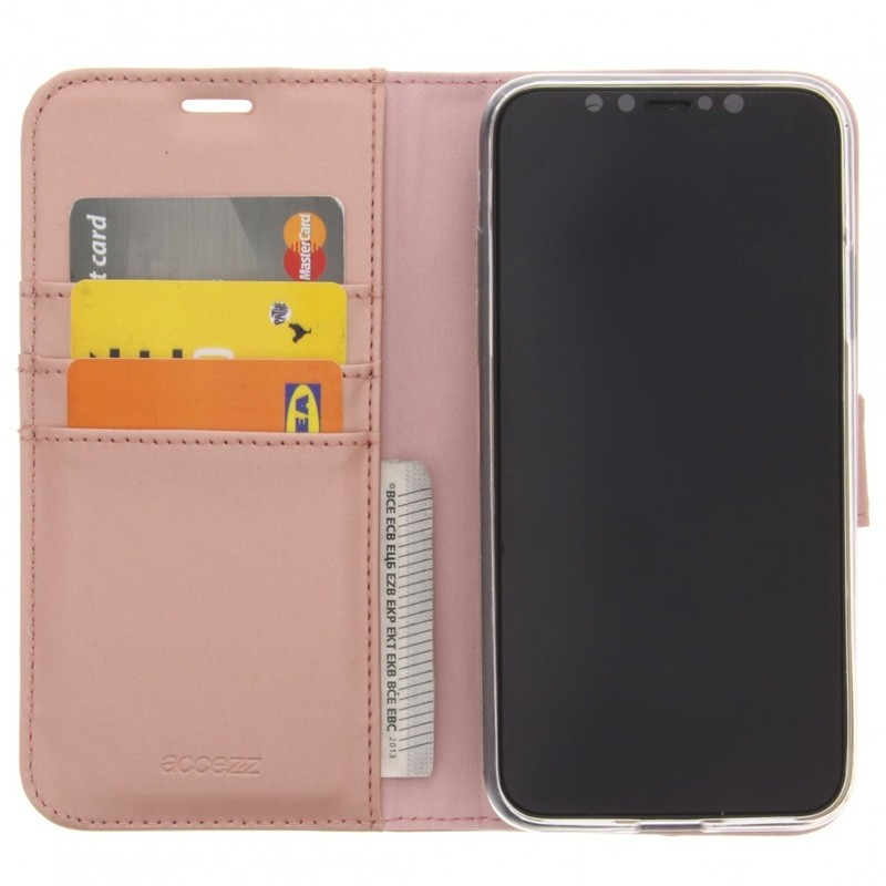 Accezz Booklet Wallet iPhone XR Hoesje Roze - 1