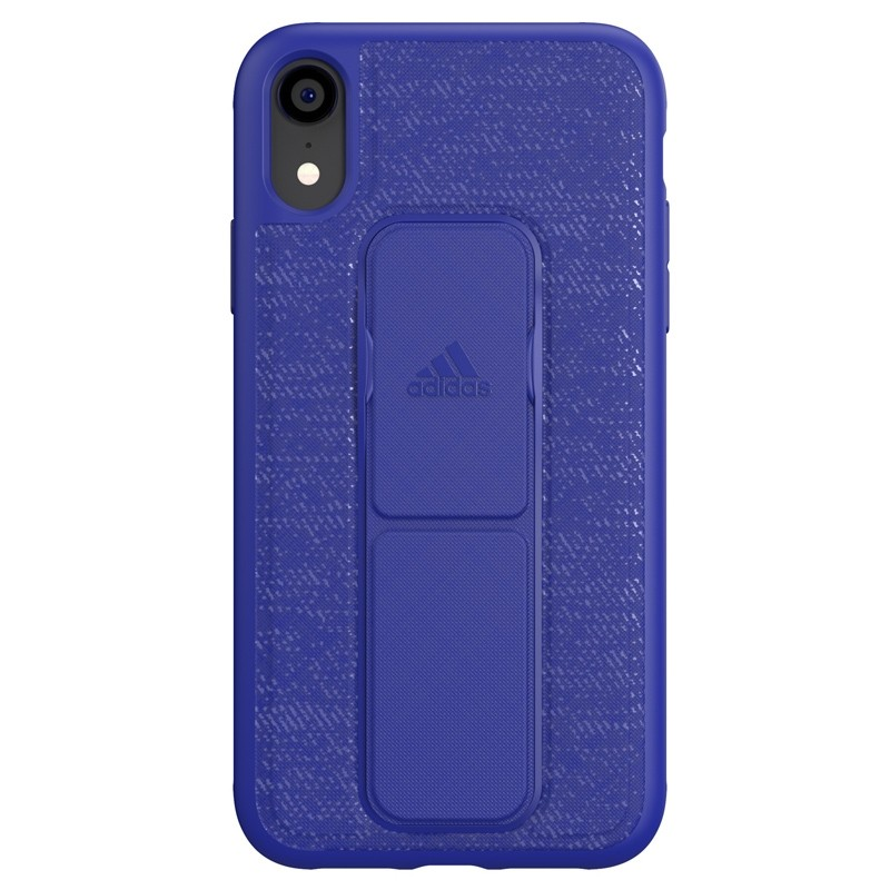 Adidas Grip Case iPhone Xr blauw 01