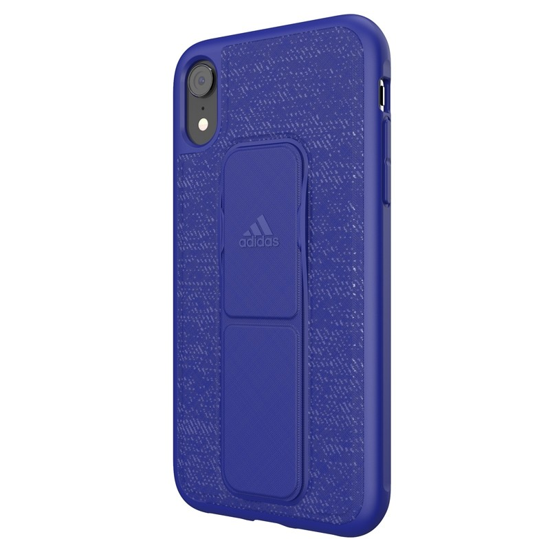 Adidas Grip Case iPhone Xr blauw 04