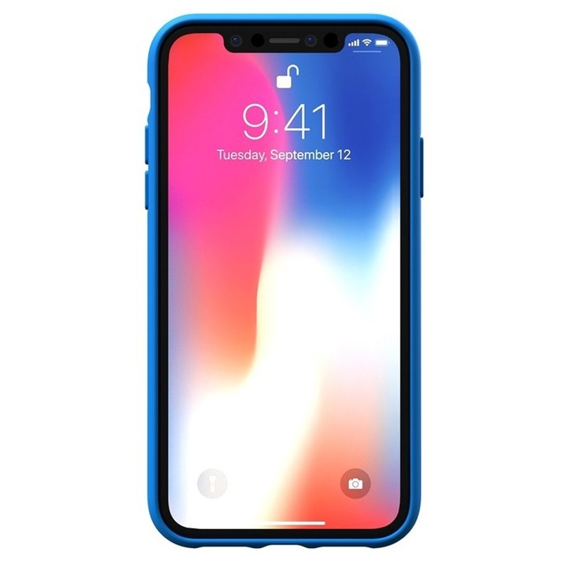 Adidas Moulded Case iPhone Xr blauw 02
