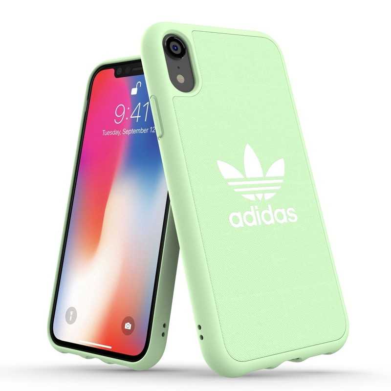 Adidas Moulded Case Canvas iPhone Xr groen 03