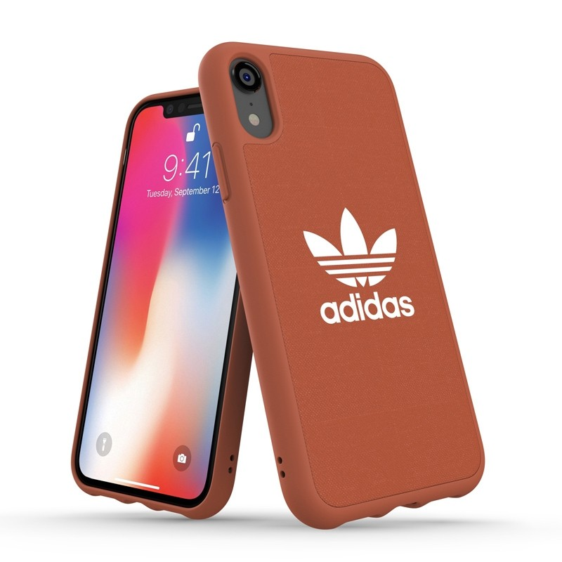 Adidas Moulded Case Canvas iPhone Xr oranje 03