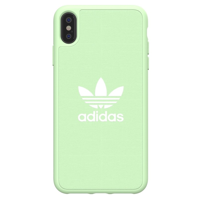Adidas Moulded Case Canvas iPhone XS Max hoesje groen 01