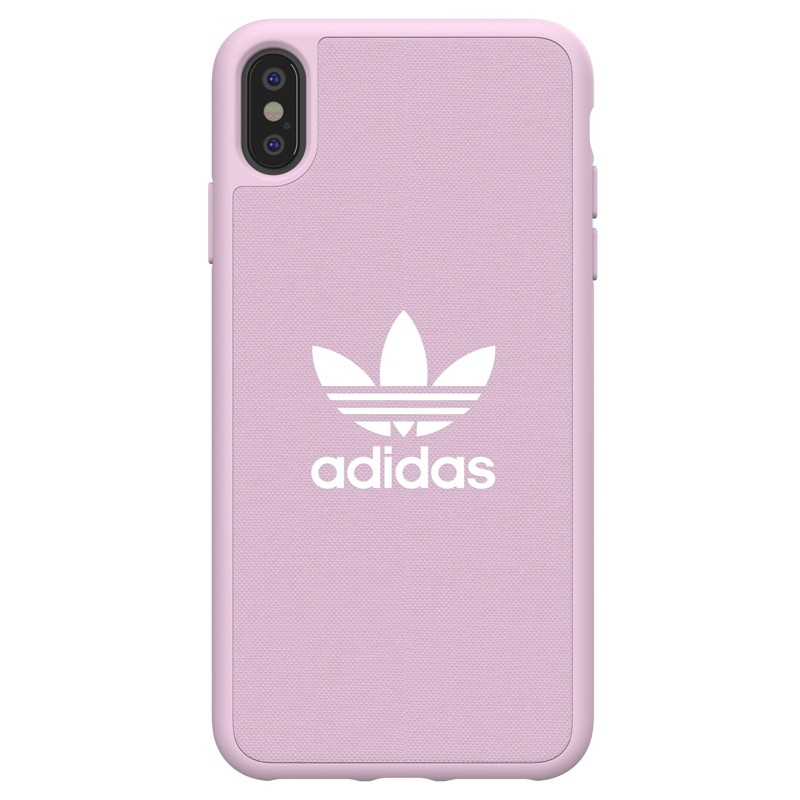 Adidas Moulded Case Canvas iPhone XS Max hoesje roze 01