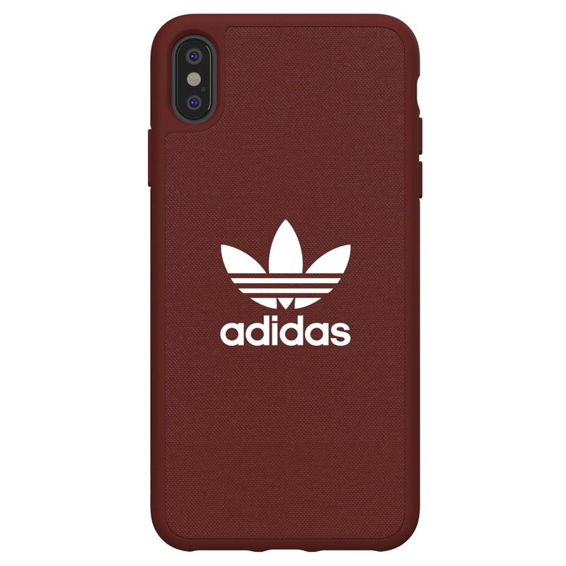 Adidas Moulded Case Canvas iPhone XS Max rood 01