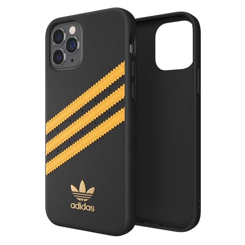 Adidas Moulded Case iPhone 12 / 12 Pro 6.1 Zwart/Geel - 1