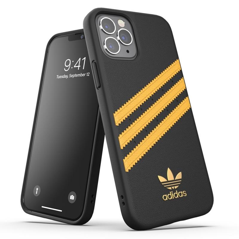 Adidas Moulded Case iPhone 12 / 12 Pro 6.1 Zwart/Geel - 5