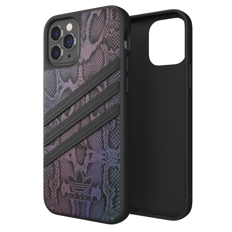 Adidas Moulded Case iPhone 12 / 12 Pro 6.1 Zwart Iridescent - 1