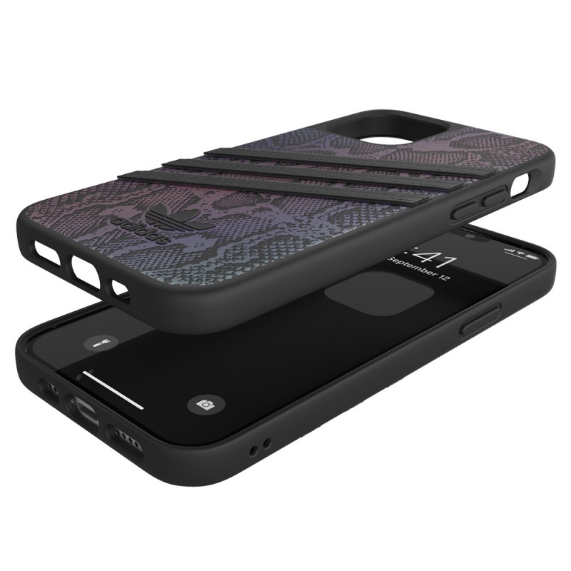 Adidas Moulded Case iPhone 12 / 12 Pro 6.1 Zwart Iridescent - 2