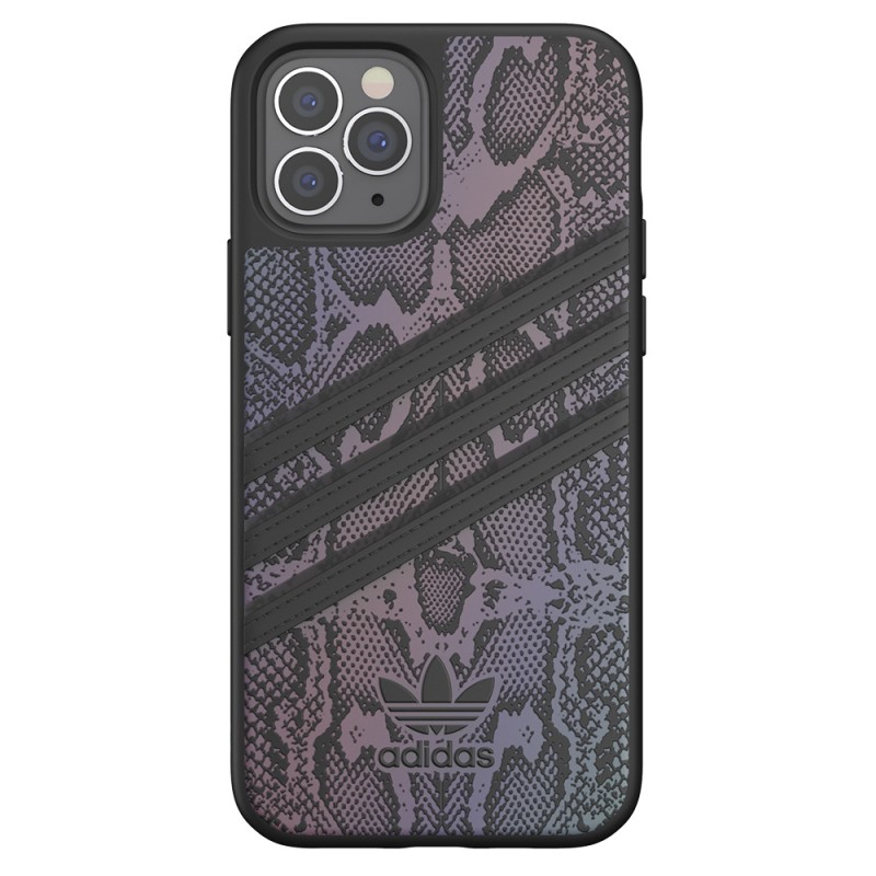 Adidas Moulded Case iPhone 12 / 12 Pro 6.1 Zwart Iridescent - 4