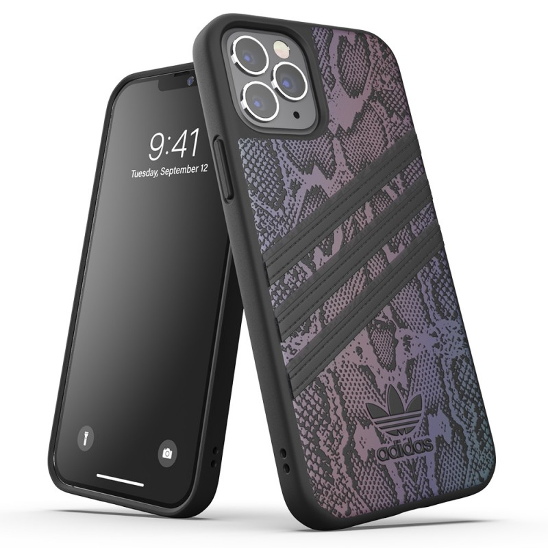 Adidas Moulded Case iPhone 12 / 12 Pro 6.1 Zwart Iridescent - 6