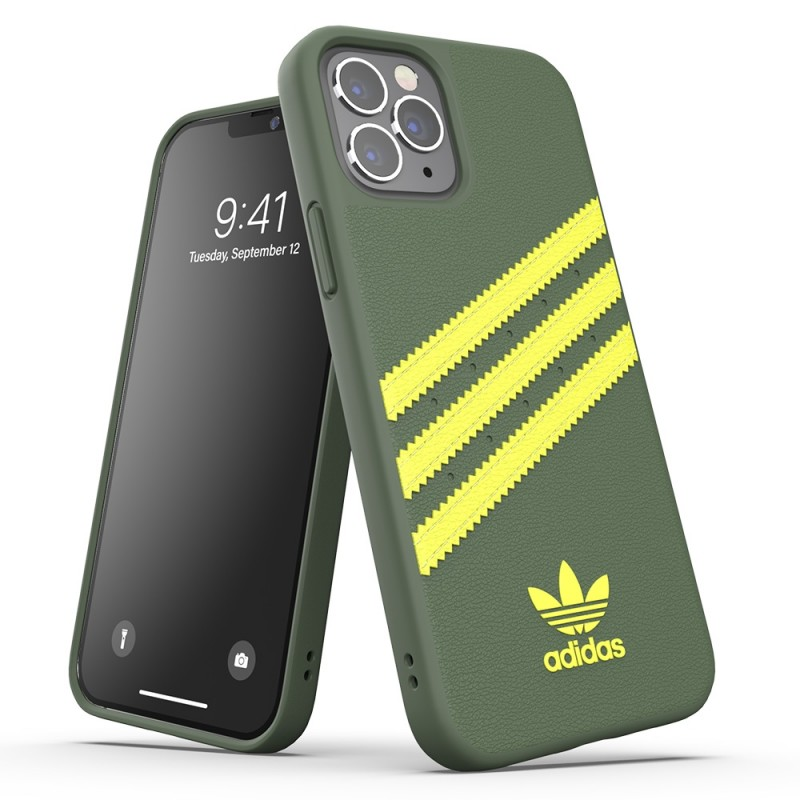 Adidas Moulded Case iPhone 12 Pro Max Groen/geel - 6