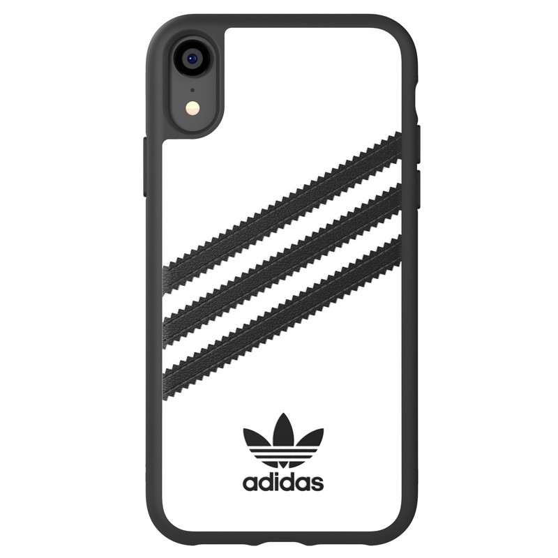 Adidas Moulded Case iPhone Xr wit/zwart 01