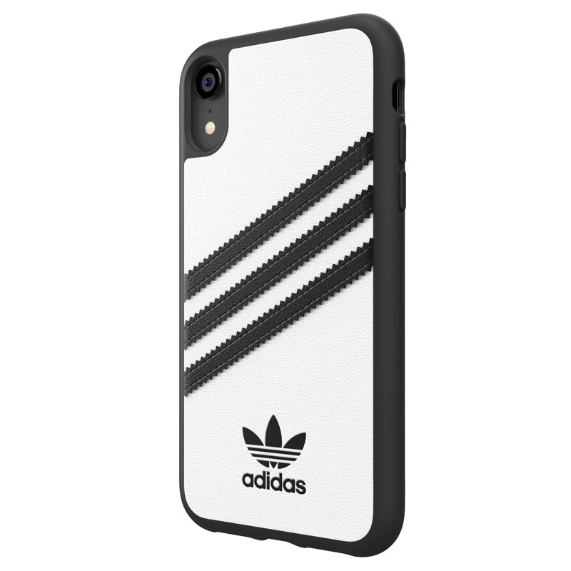 Adidas Moulded Case iPhone Xr wit/zwart 04