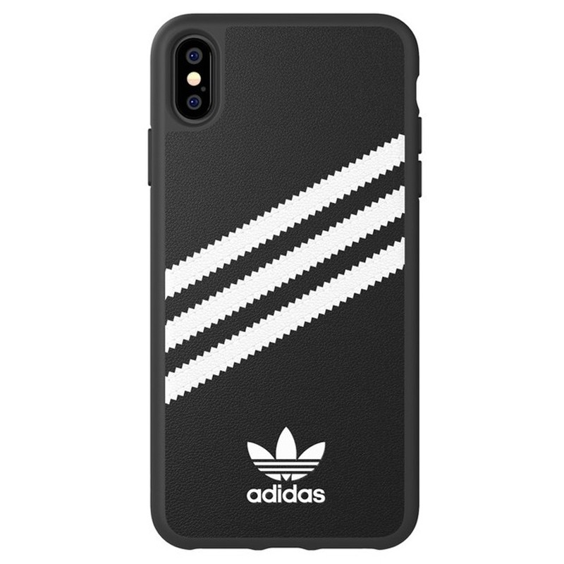 Adidas Moulded Case iPhone Xs Max zwart/wit 01